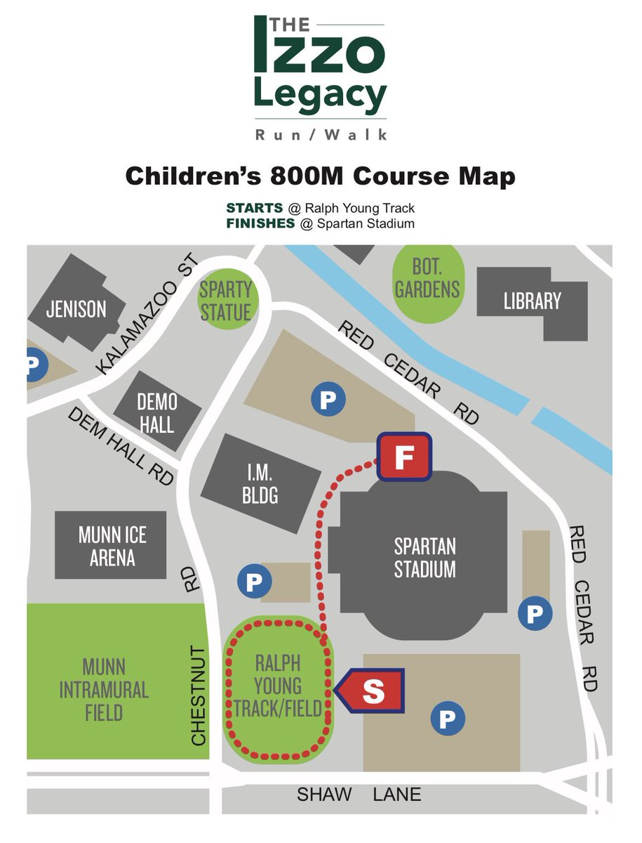 Super excited to share the race map for our kid participants!🏃🏽♀️🏃🏼♂️