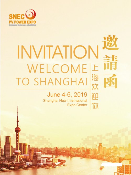 Event Name: SNEC PV POWER EXPO 2019 Dates: June 4-6, 2019 Venue: Shanghai New International Expo Center, Shanghai, China Number of halls: 17 Exhibition Space: 200,000 sqm Exhibitor Number: 2,000+ Visits: 260,000+ Professionals: 5,000+ Countries and Regions: 95 https://t.co/72FN6dEBJH