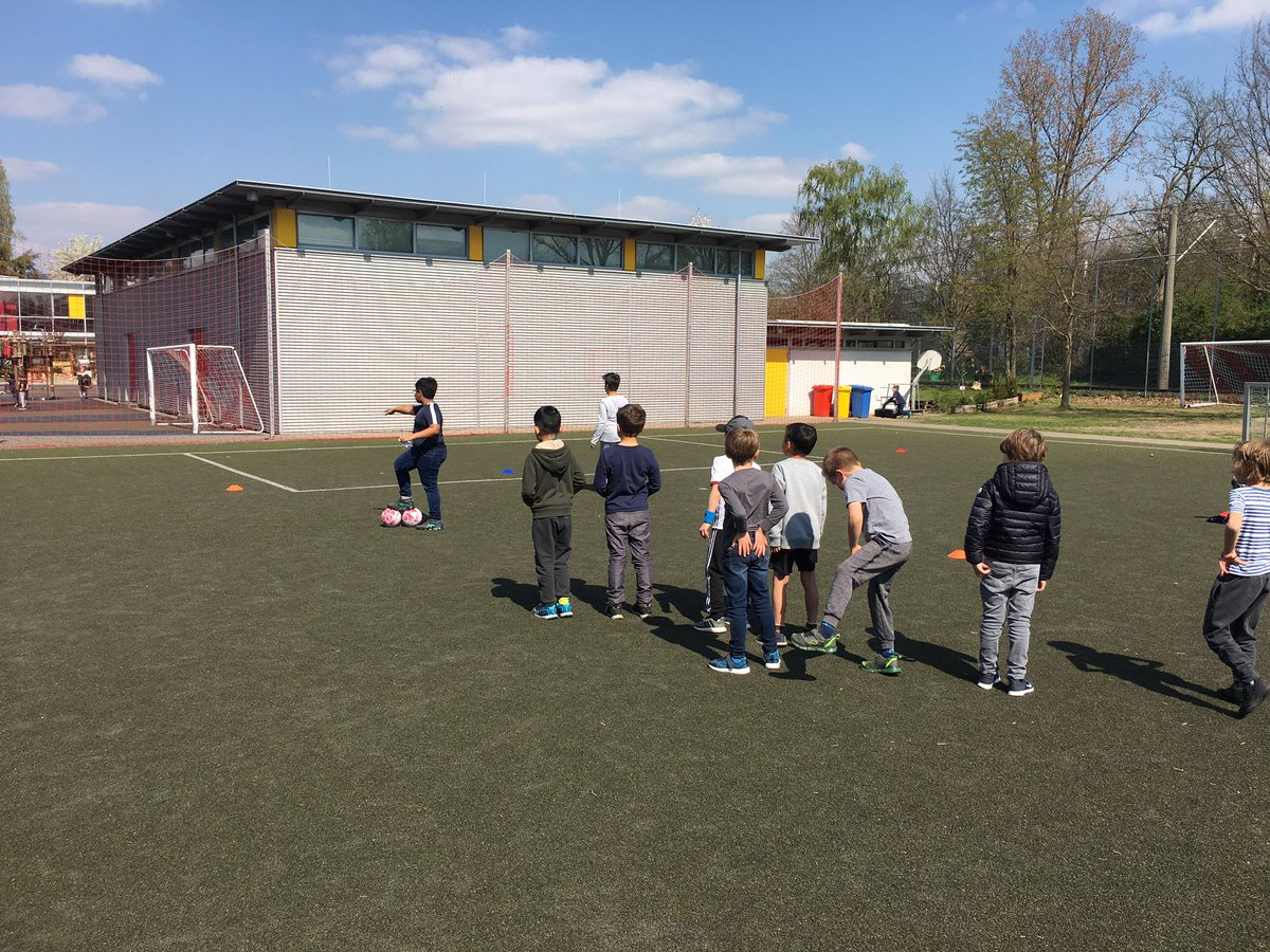 """Ss take #action and run their first soccer training session for @isdedu first graders for their #pypx. Great reflections: """"I think we need a whistle"""", """"they distracted themselves, I didn't know you could distract yourself"""", """"they just wanted to play!"""" #IBPYP #WeAreISD"""