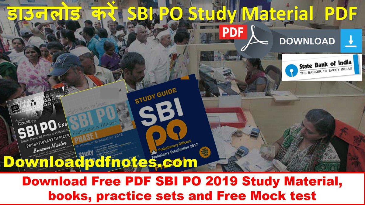 PDF] Download SBI PO Study Material, books, Syllabus, practice set