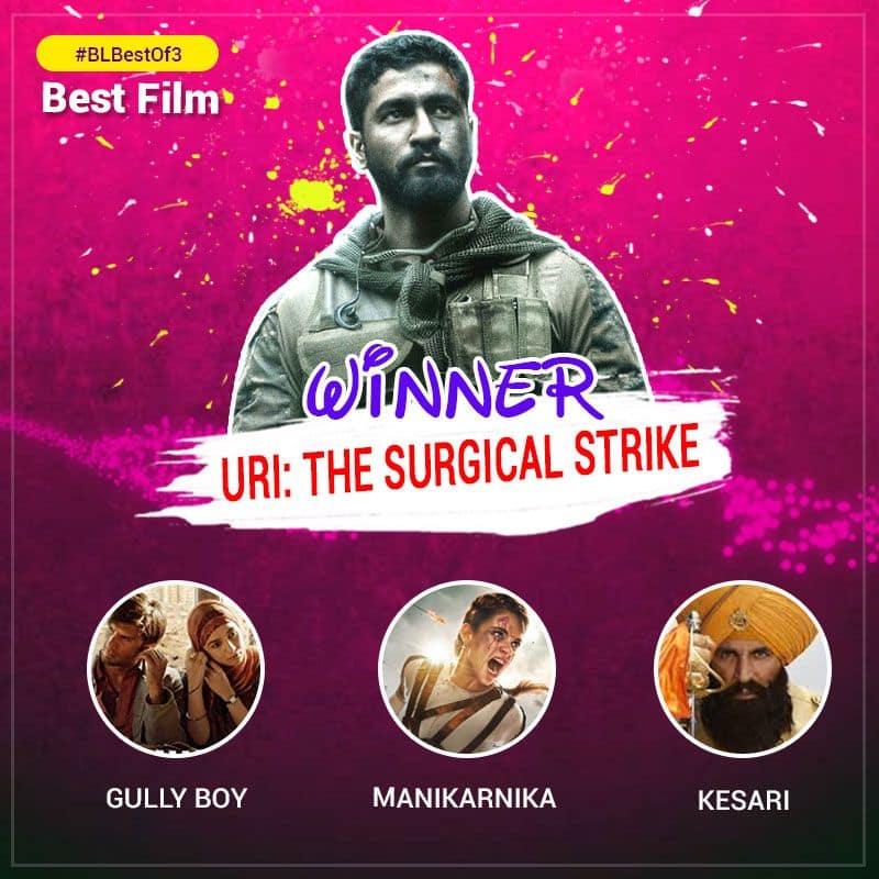 Congratulations team #Uri for emerging as the Best Film at the #BLBestOf3 poll. Where's the party at? @vickykaushal09 @SirPareshRawal @yamigautam @IamKirtiKulhari @AdityaDharFilms @RonnieScrewvala @RSVPMovies @VickyKaushalFC @VickyKaushal_FC  https://www.bollywoodlife.com/news-gossip/blbestof3-vicky-kaushals-uri-the-surgical-strikes-wins-best-film-of-the-first-quarter-of-2019/…