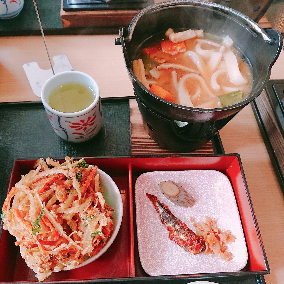 私実はほうとうと炊き込みご飯とかき揚げが大好きなんだよね #山梨FUJIフルーツパーク https://t.co/LG4aT54458