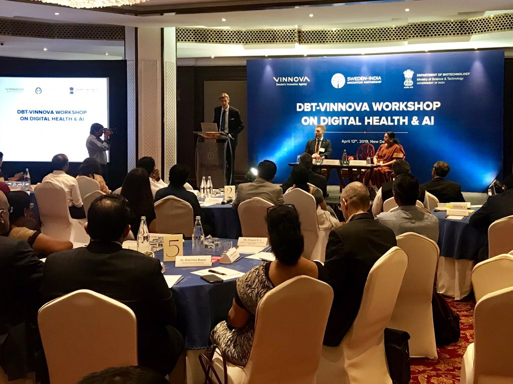 f23dc567505 Amb Klas Molin speaking to today's participants from government, industry  and academia. #SwedenIndiaInnovationPartnershippic.twitter.com/Z74kl9kA40