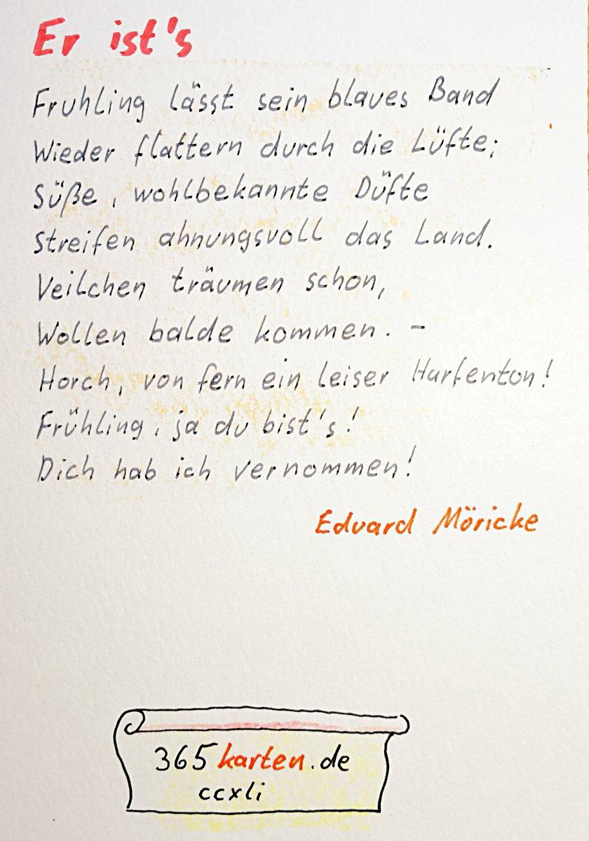 365karten On Twitter Ich Liebe Frühling Eduard Möricke