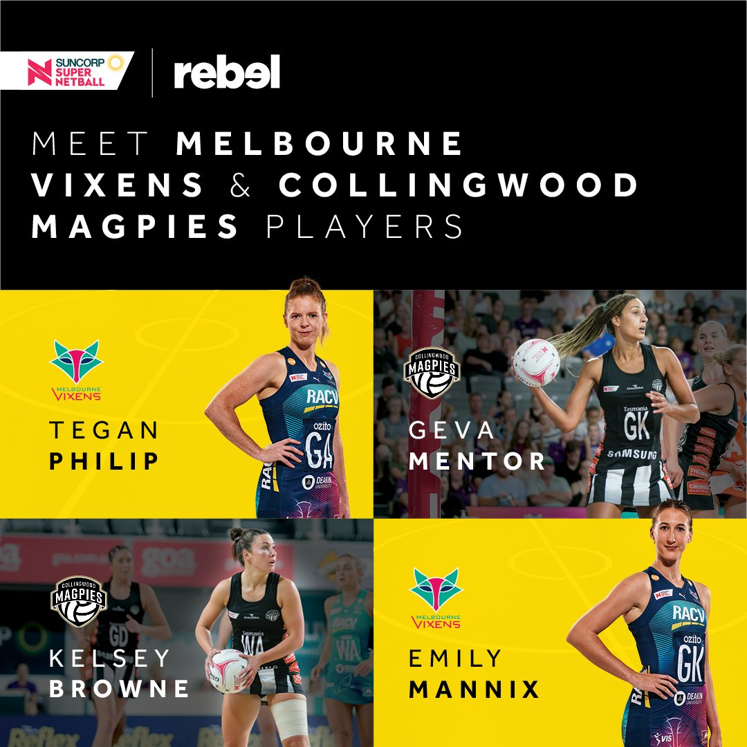 Calling all @magpies_netball and @MelbourneVixens fans, come and meet your netball idols at @rebelsport Waurn Ponds. - @emily_mannix @teganphilip @GevaMentor and @kelsebrowne will be appearing this Wednesday April 17 from 10am to 12pm https://t.co/Ri819fIZCF