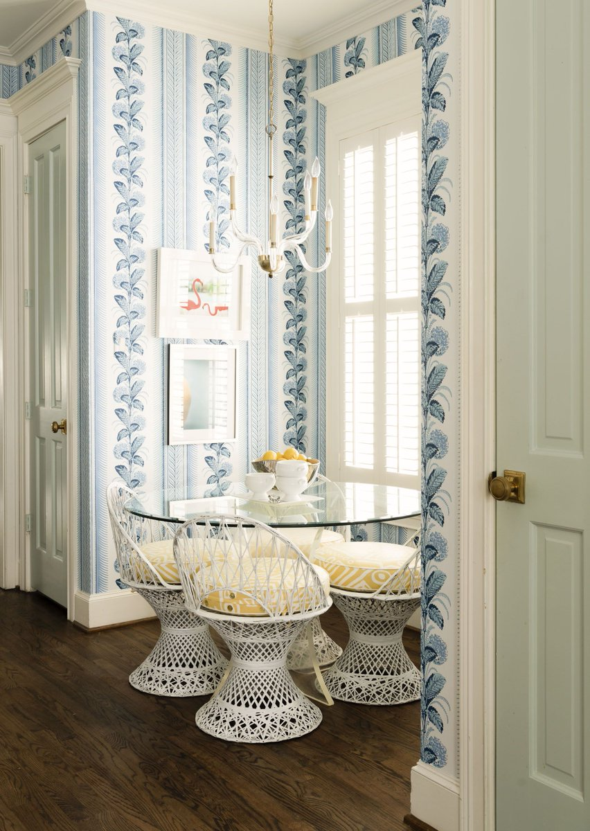 Quadrille Climbing Hydrangea Wallpaper Interior Design By