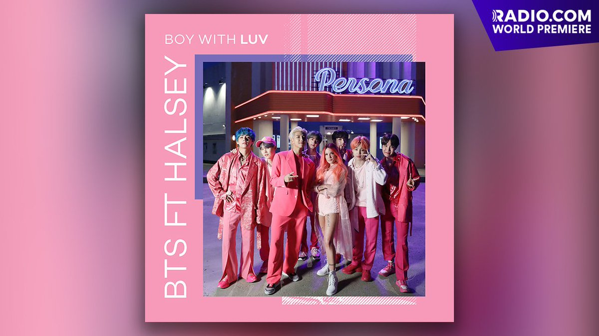 #BTSARMY! For #MAP_OF_THE_SOUL_PERSONA we have the WORLD PREMIERE of @BTS_twt's  💜💕#BoyWithLuv 💕💜 feat. @halsey! + this EXCLUSIVE VIDEO! ➡http://bit.ly/2X6GDHv