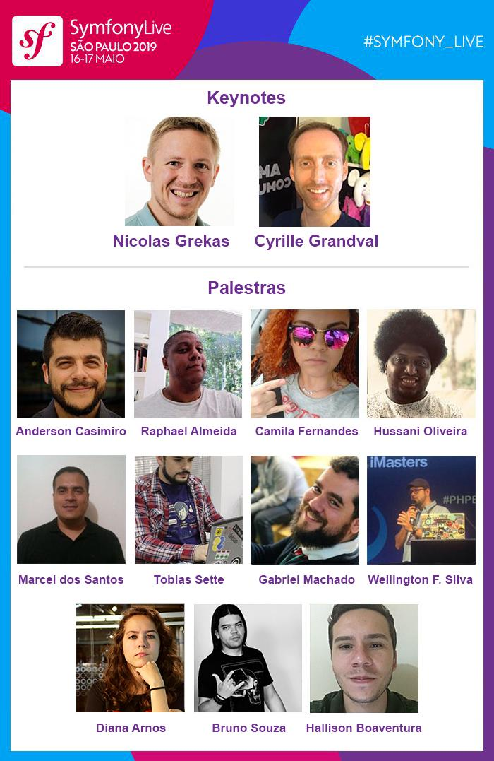 SymfonyLive Brasil 2019 Speakers
