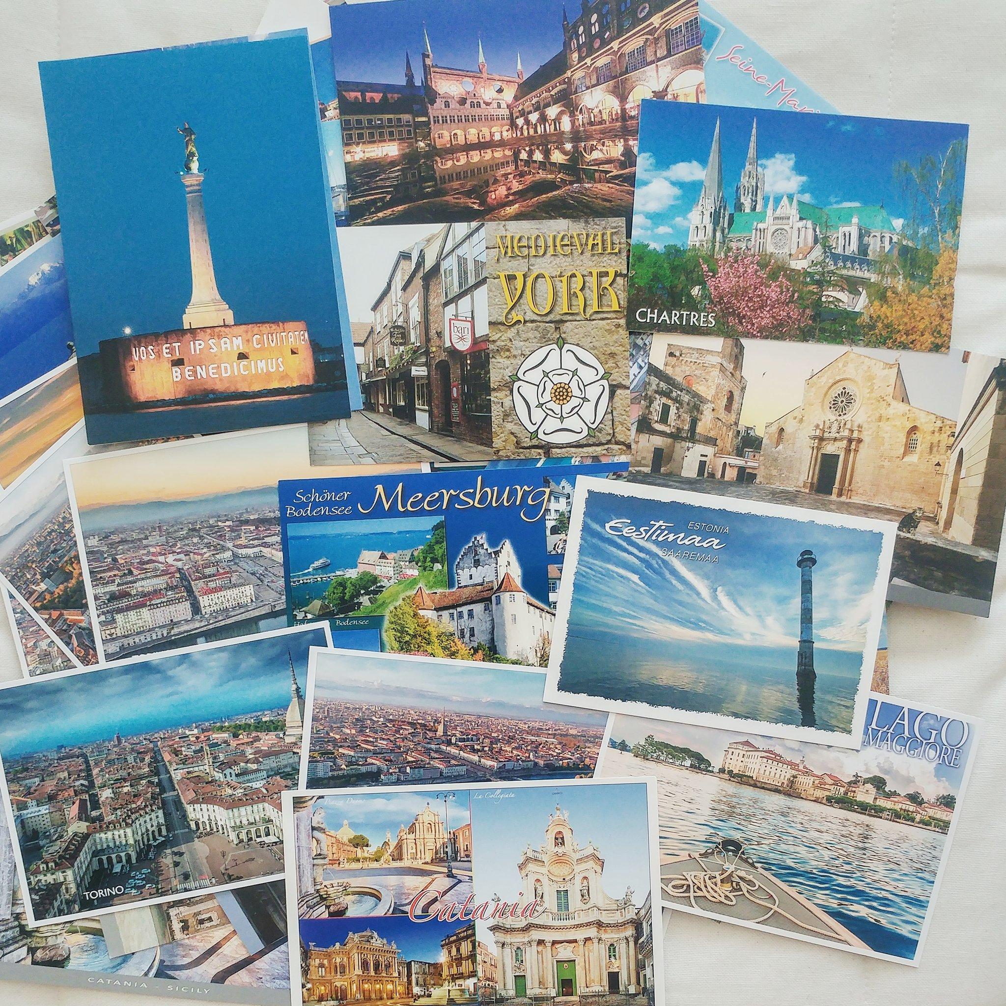 Коллекция открыток из путешествий, свадьба