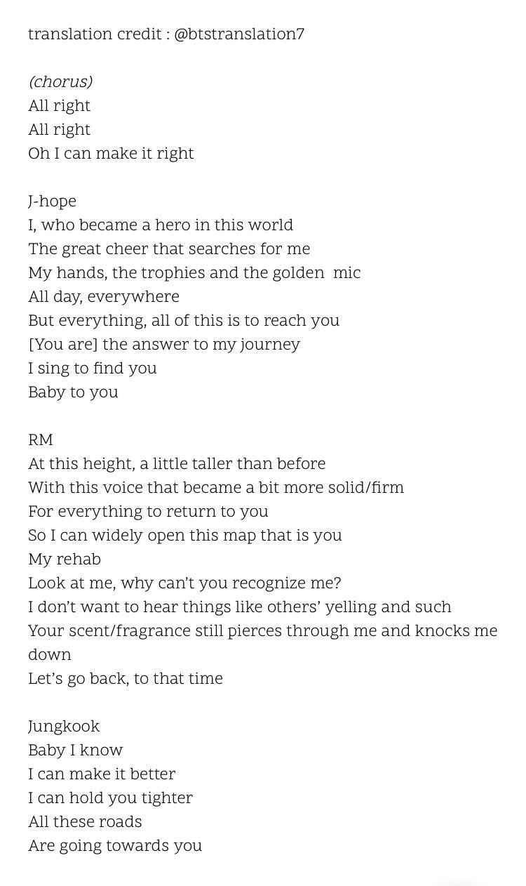 Get What Done Make It Right How You >> Bts Translations On Twitter 4 Make It Right Lyrics