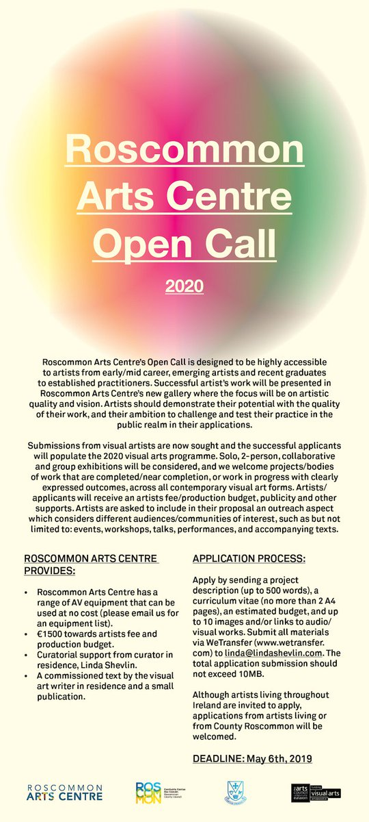 Do Not Call List 2020.Roscommon Artscentre On Twitter Exciting Opportunity For
