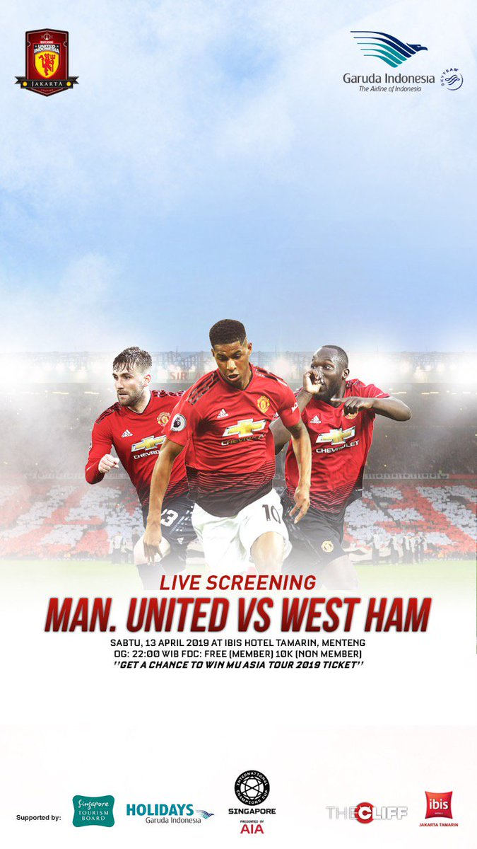 Mau hadiah menarik? Atau mau Ikut tour Manchester United di Singapore nanti? Yuk langsung datang ke #LiveScreening #UIJKT bersama @IndonesiaGaruda dan @VisitSingapore Sabtu ini di Hotel Ibis Tamarin, open gate jam 21.30wib. See you there!   #UIJKT