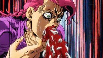 口からカミソリ!!! #jojo_anime https://t.co/QhP3Xd7zMg