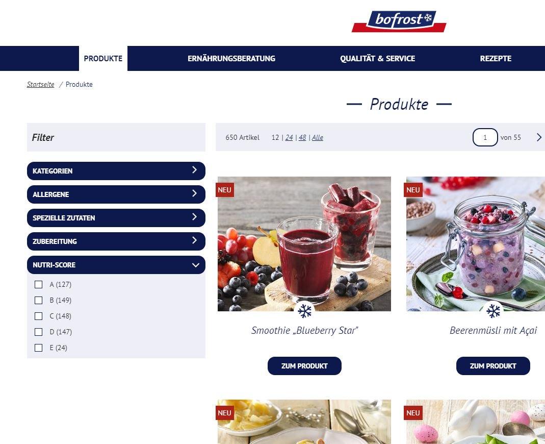 Bofrost online bestellen