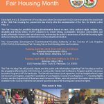 Image for the Tweet beginning: The #FairHousingMonth resource fair at