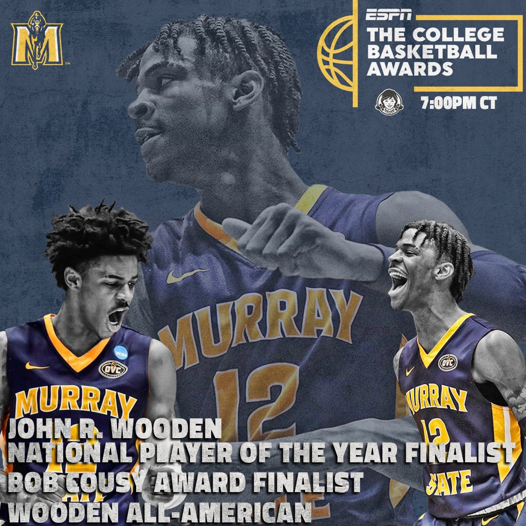 Tune in to the College Basketball Awards on ESPN2 at 7:00 tonight. Wooden 1st Team All-American @igotgame_12 will be in attendance as a finalist for multiple awards.