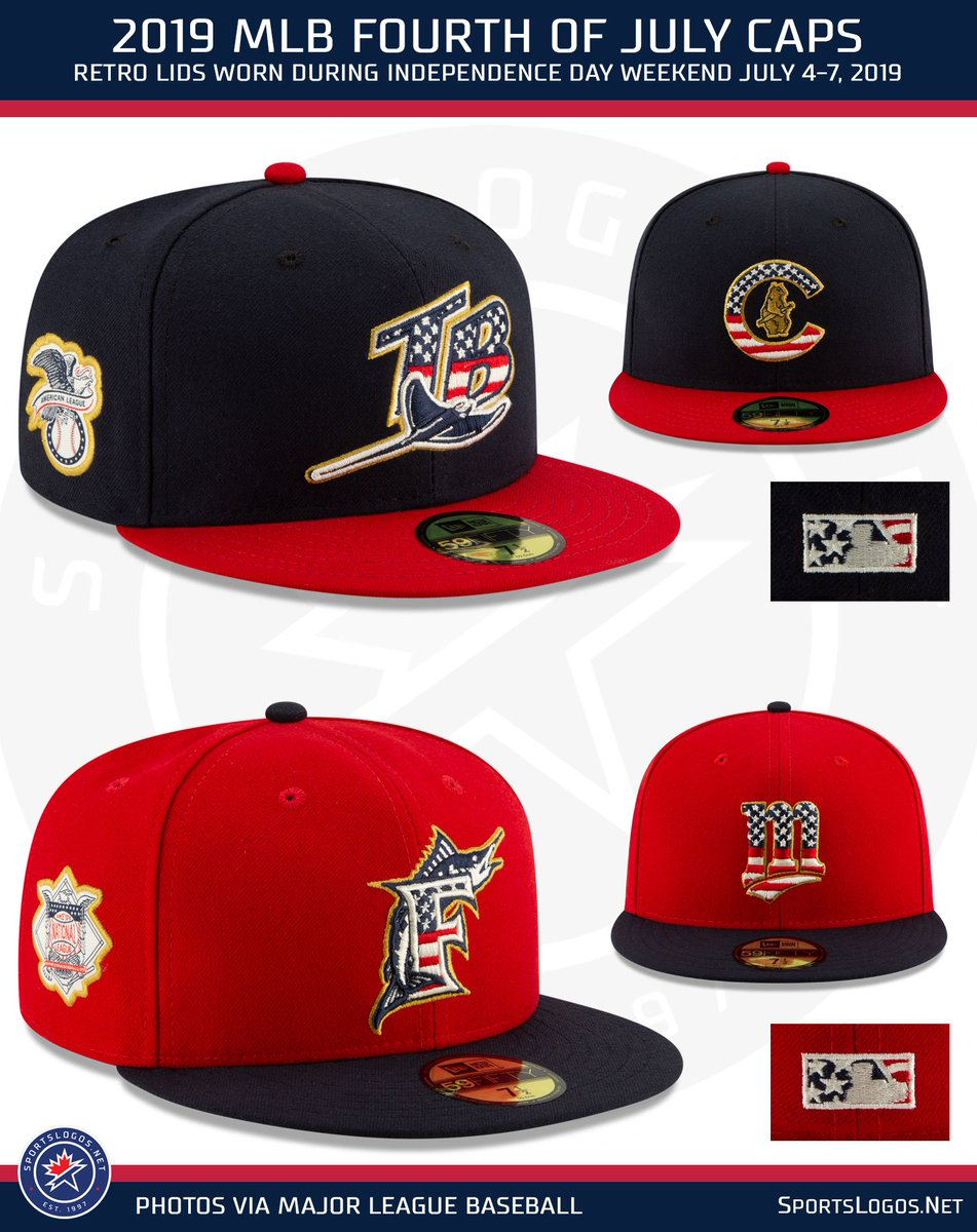 2140cf7d6 That Rays cap!! More photos and details here:  http://news.sportslogos.net/2019/04/12/mlb-unveils-2019-holiday-all-star- caps-and-uniforms/ …pic.twitter.com/ ...