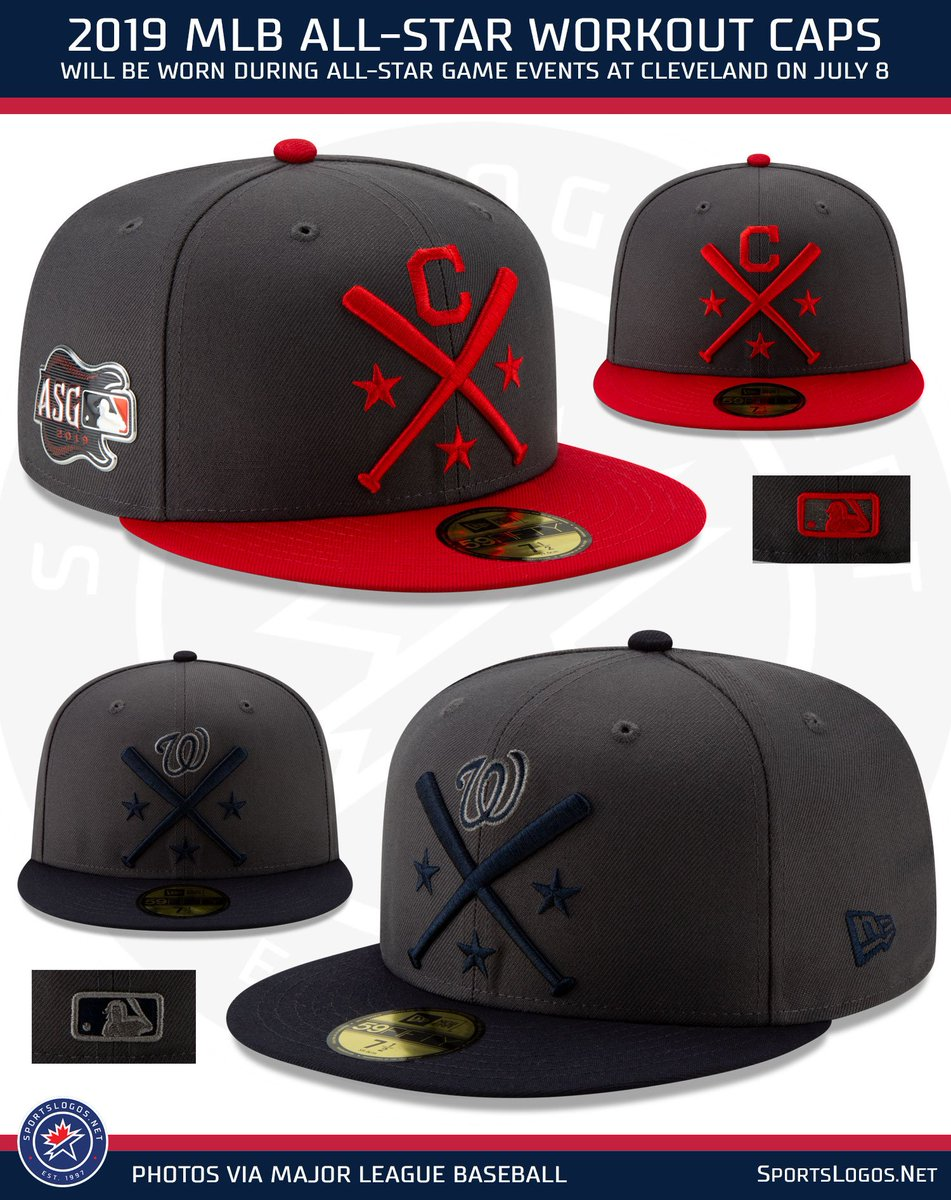 7d27cfe75 Caps feature crossed bats with the team logo above. More photos and details  here: ...