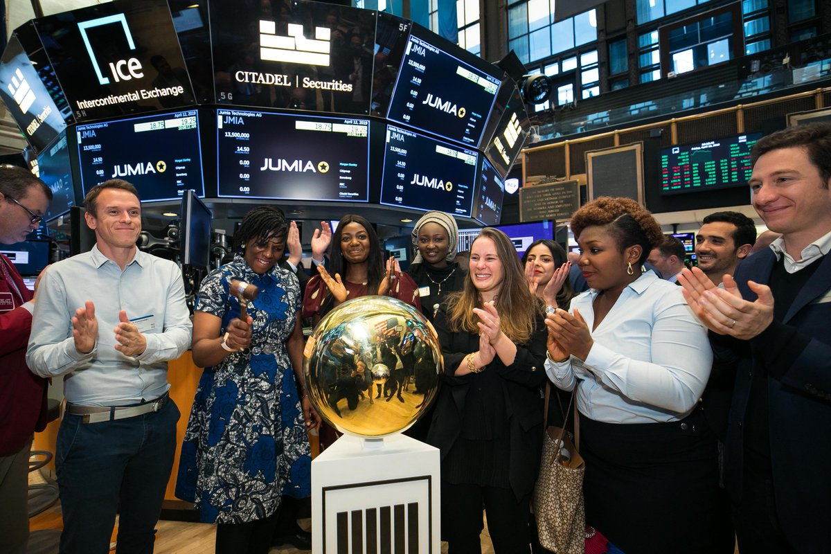 Jumia Goes Live On NYSE Sell At $14.50/Share (IPO)
