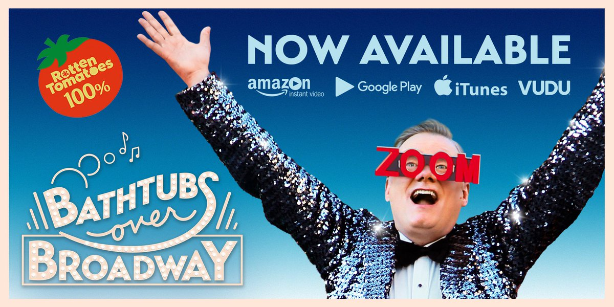 NOW AVAILABLE ON DEMAND! Set during the last days of the Late Show, the award-winning documentary @BathtubsOverBwy follows Letterman comedy writer @PANTSSteve as he uncovers a bizarre & hilarious world you were never meant to see! #BathtubsOverBroadway #ItllChangeYourLife