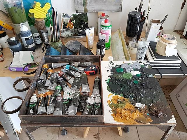 #StudioVisit #ArtistStudio #painting #AcrylicColor #ContemporaryArt #curatorlife https://t.co/Qd7HZ2T0MQ