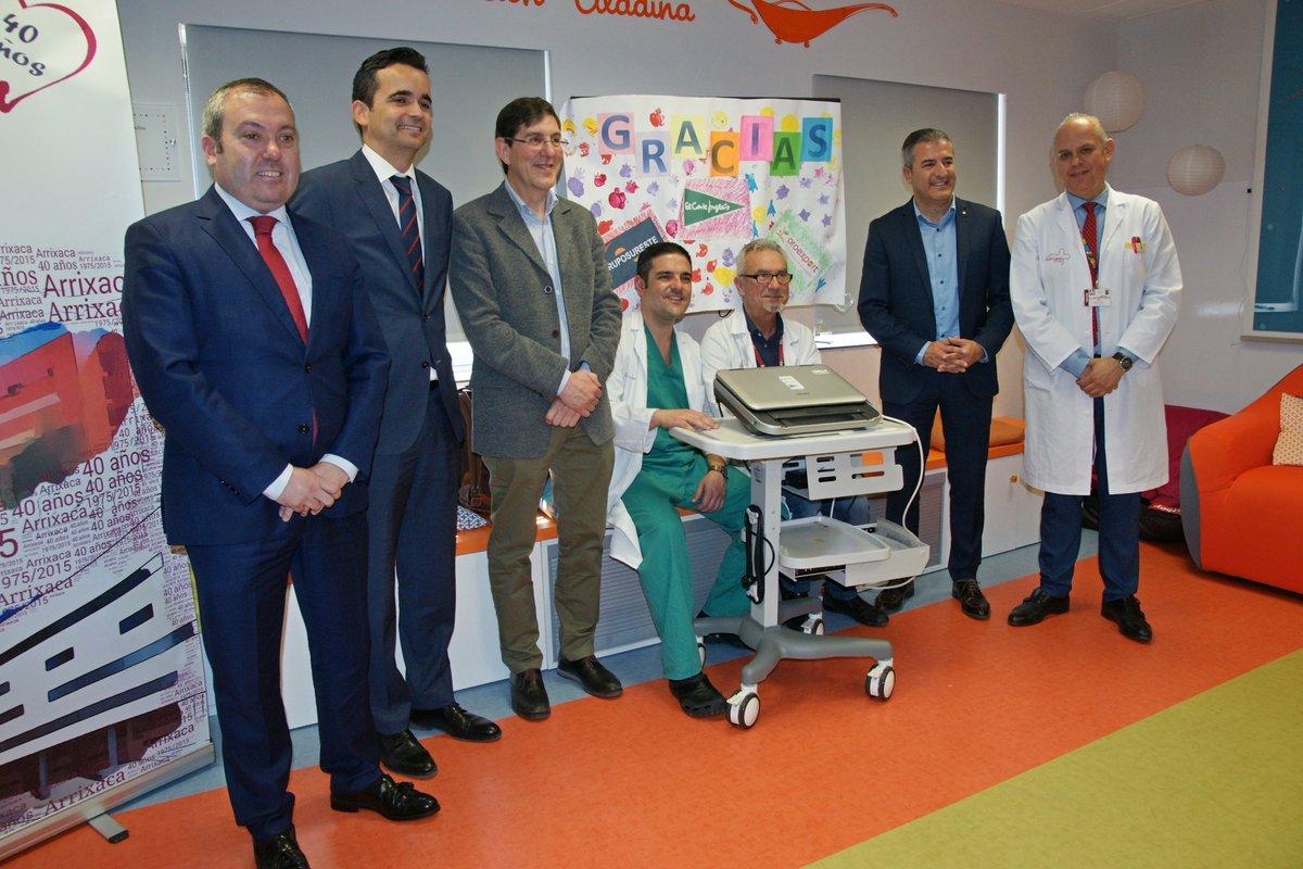 📢Tres empresas vinculadas a la Región de #Murcia @elcorteingles @Proexport_Spain @RaulColucho han donado un ecógrafo que contribuye a mejorar la asistencia que prestamos a los pacientes infantiles. Gracias de ❤️a todos ellos y a @oscargironv @Murciasalud➡️https://bit.ly/2uYYwvT