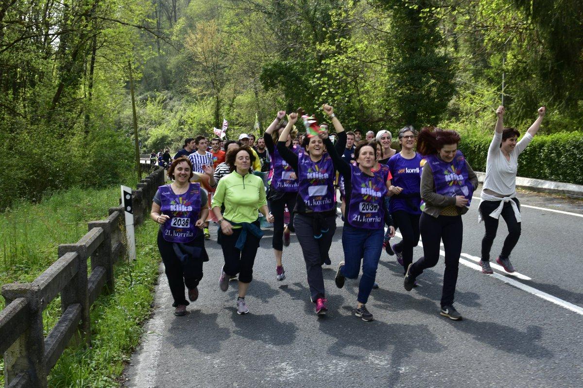 @Elhuyar ek ere egin du bere kilometroa, Usurbilen @korrika @AEK_eus #Klika #Korrika21