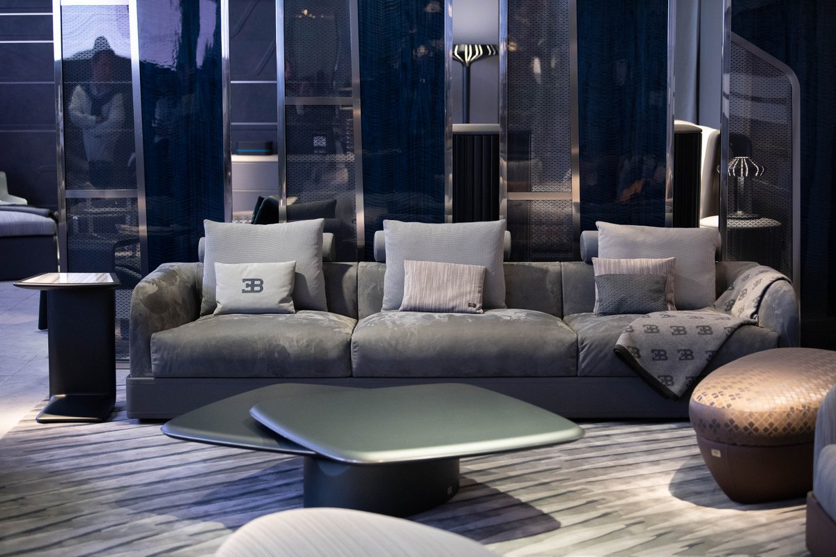 Immerse yourself in our lifestyle world at Salone del Mobile in Milan with the new Bugatti Home Collection which alludes to performance, technology and elegance -essential features of the prestigious Bugatti hyper sports cars.  #BugattiHome #LuxuryLivingGroup #BugattiDivo