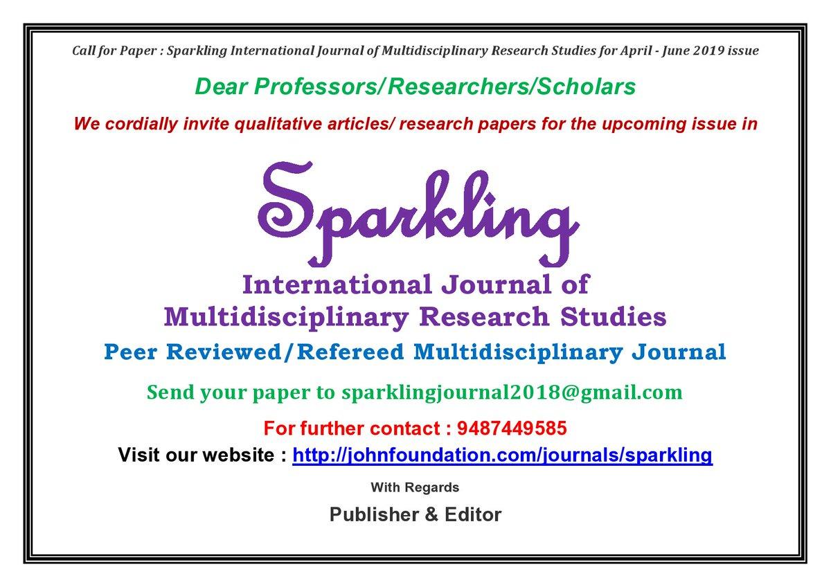 Sparkling International Journal (@SparklingInter2) | Twitter