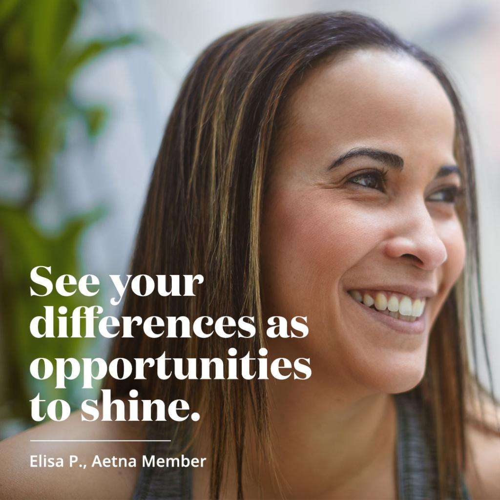 Elisa is proud of all the things that make her who she is, from her Hispanic heritage to her daily meditation practice.