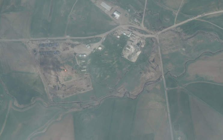 Tracking the source of a recent oil spill in Mosul Lake. #Iraq #Syria