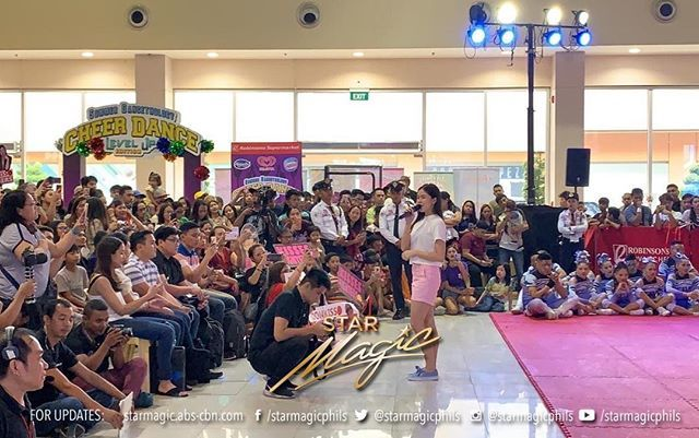 Kisses Delavin for the Robinsons Supermarkets's Summer Dancethology Cheer Dance Level Up Edition Grand Finals at Robinsons Novaliches http://bit.ly/2UxhDMB