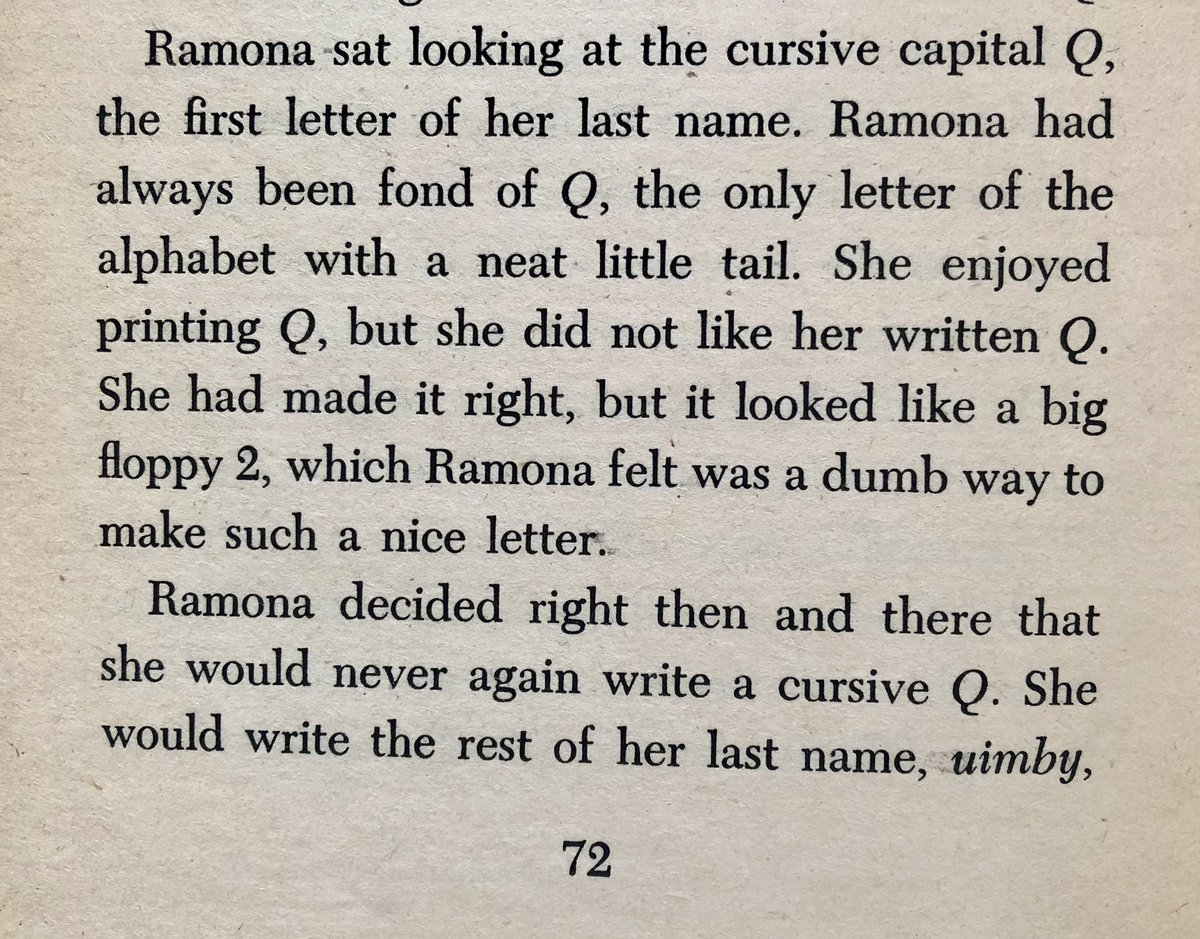 """I feel the same way about the cursive """"S,"""" and have always printed it in my signature. Wonder if I subconsciously got that from Beverly Cleary's Ramona Quimby? 😁"""