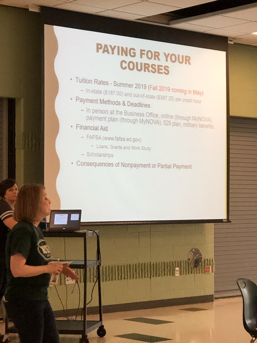 Important information about payment and enrolling in classes for seniors in NOVA Pathway. If you are missing today's meeting, please make an appointment with Ms. Wilder &amp; check your email. <a target='_blank' href='https://t.co/8tpAhsHVyN'>https://t.co/8tpAhsHVyN</a>