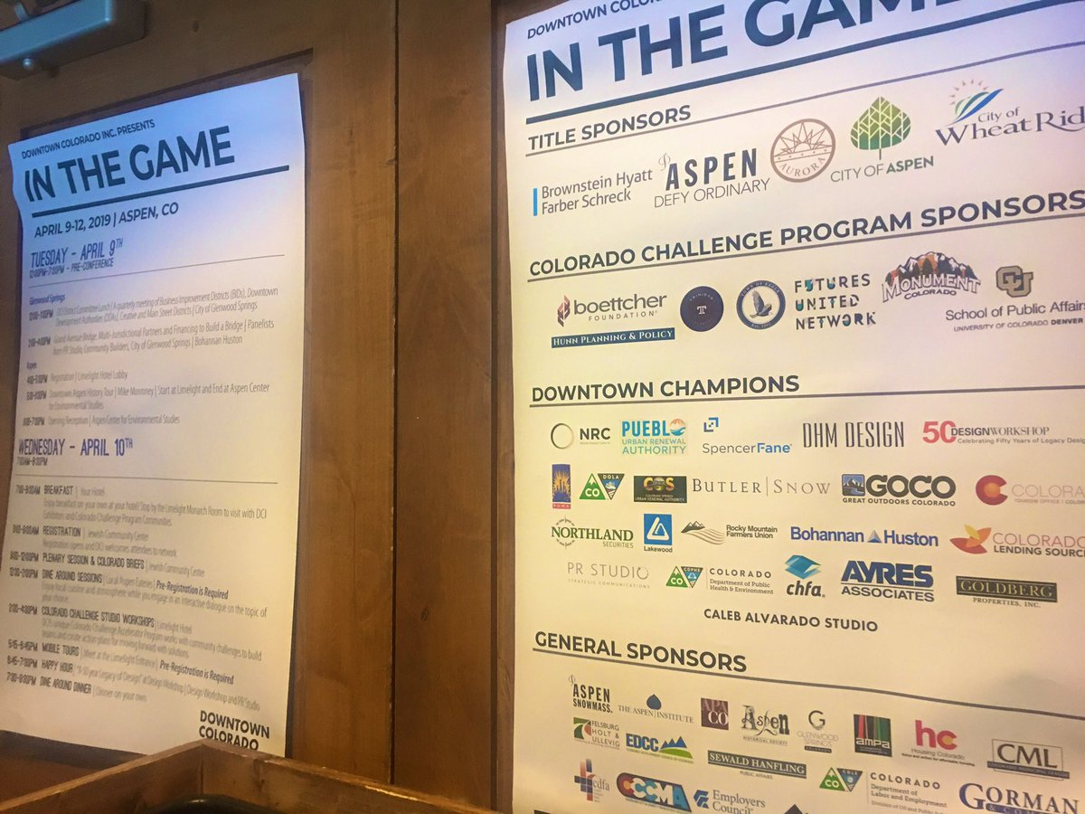 e61b2bbf401a Be sure to visit w our smart and savvy team  CO brief speaker Cole Judge   colelai and Amanda Kannard!  downtowns  strategy  place  community   DCIinthegame ...