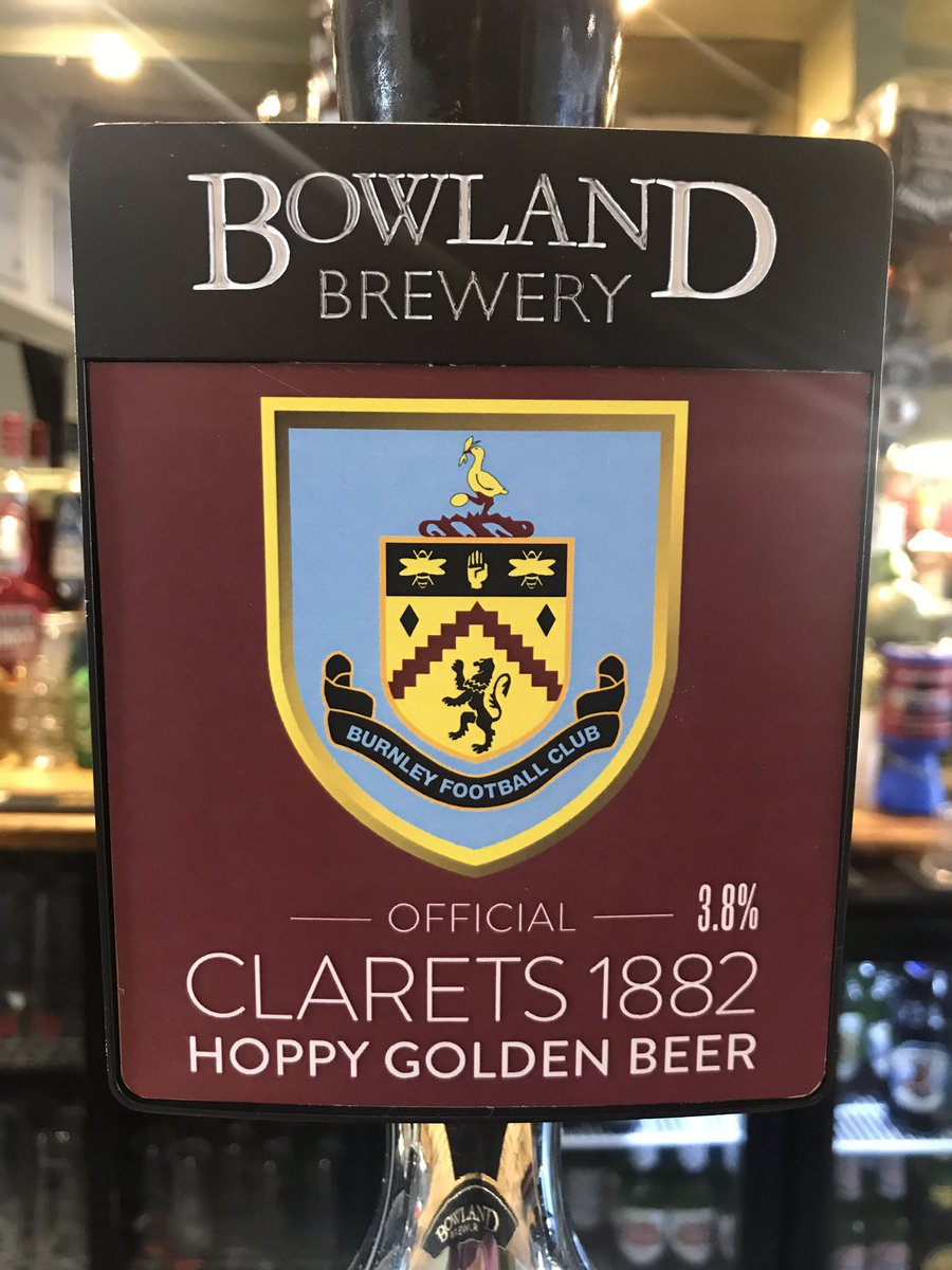 RT @theroyaldyche: This weekend's real ales..  COME ON BURNLEY!!! ⚽️  #cask #realale #bowland #handpump https://t.co/f80NzEIOJs