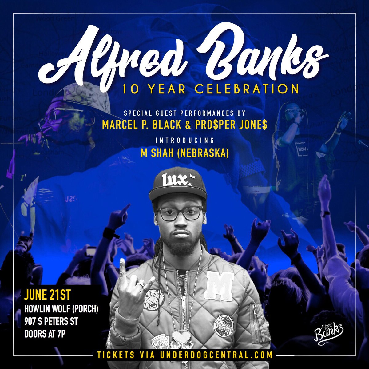 2-0-1-9...NEW ORLEANS: June 21st, I need your help Celebrating my 10 years in the game! Special guests: @MarcelPBlack @Prosper__Jones & @MShahRaps !!!!  Cop your tickets now: https://www.ticketweb.com/event/on-the-porch-alfred-banks-howlin-wolf-tickets/9372695…