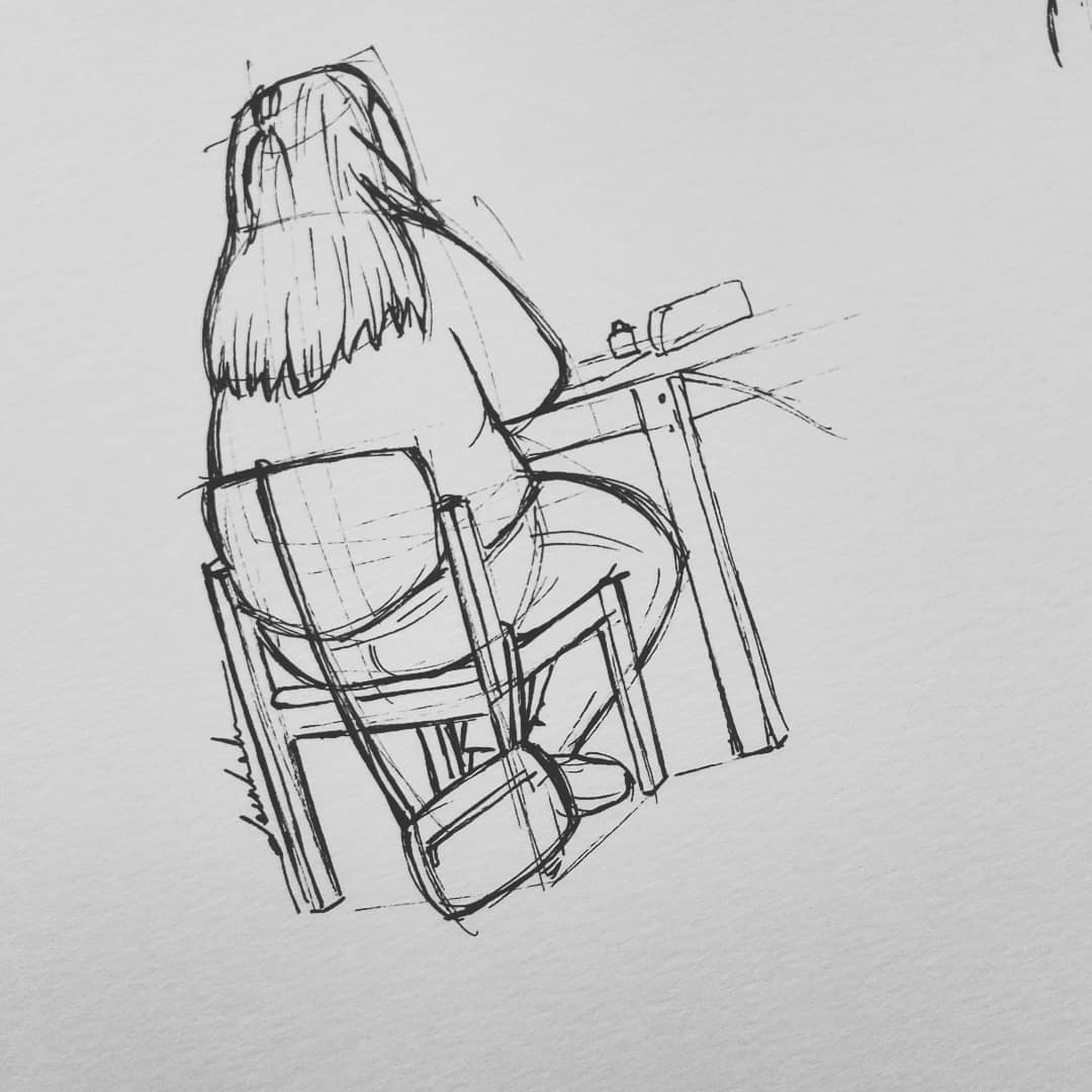 Quick sketch #dailyart #dailyillustration #quicksketch #quickdoodle #study #studying https://t.co/ri9ieLnuy8