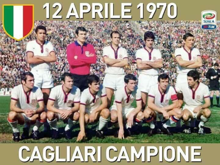 """OldFootballPhotos on Twitter: """"#OnThisDay in 1970, #Cagliari become  Champions of Italy. #scudetto… """""""