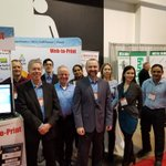 Image for the Tweet beginning: Amazing team at @amazingprint booth