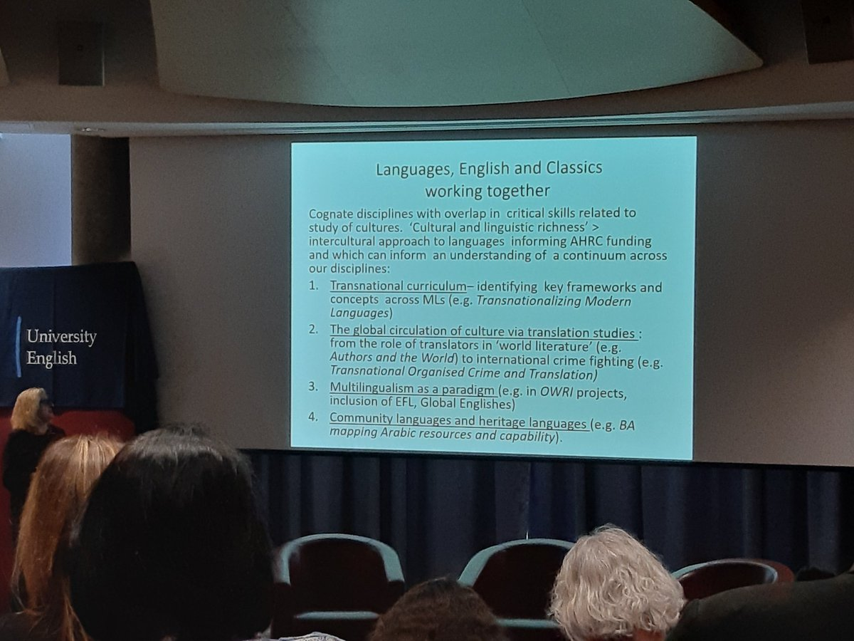 Languages have developed new curricula to avoid being scaled down into service units, and maintain and develop interest from students #ueagm19