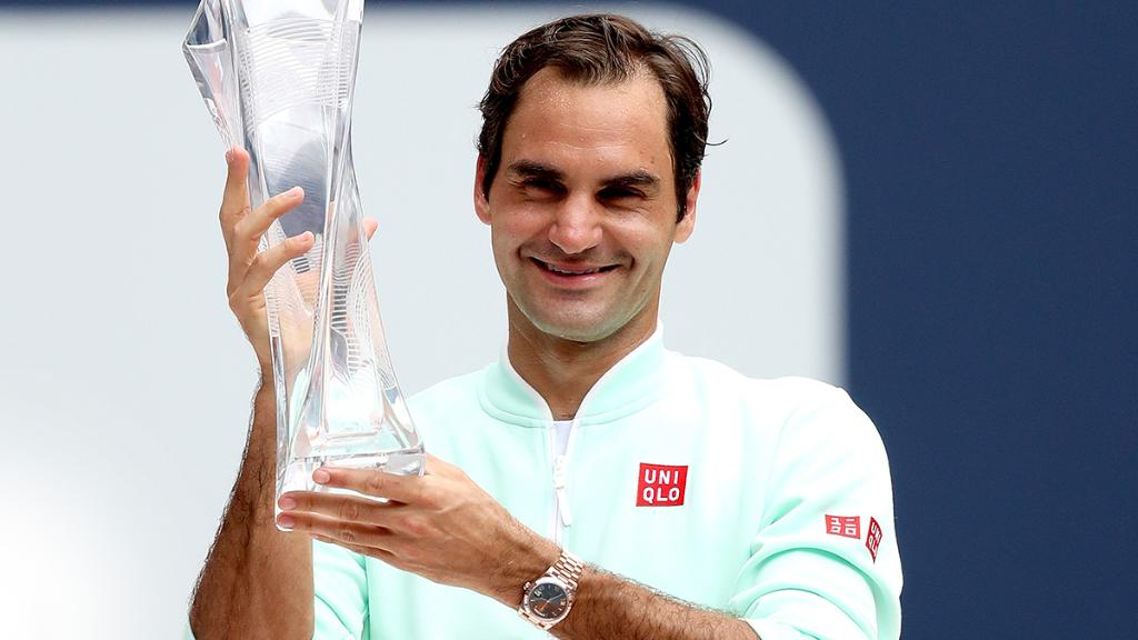 Congratulations @rogerfederer on your 4th @MiamiOpen title. #Perpetual #RolexFamily #MiamiOpen