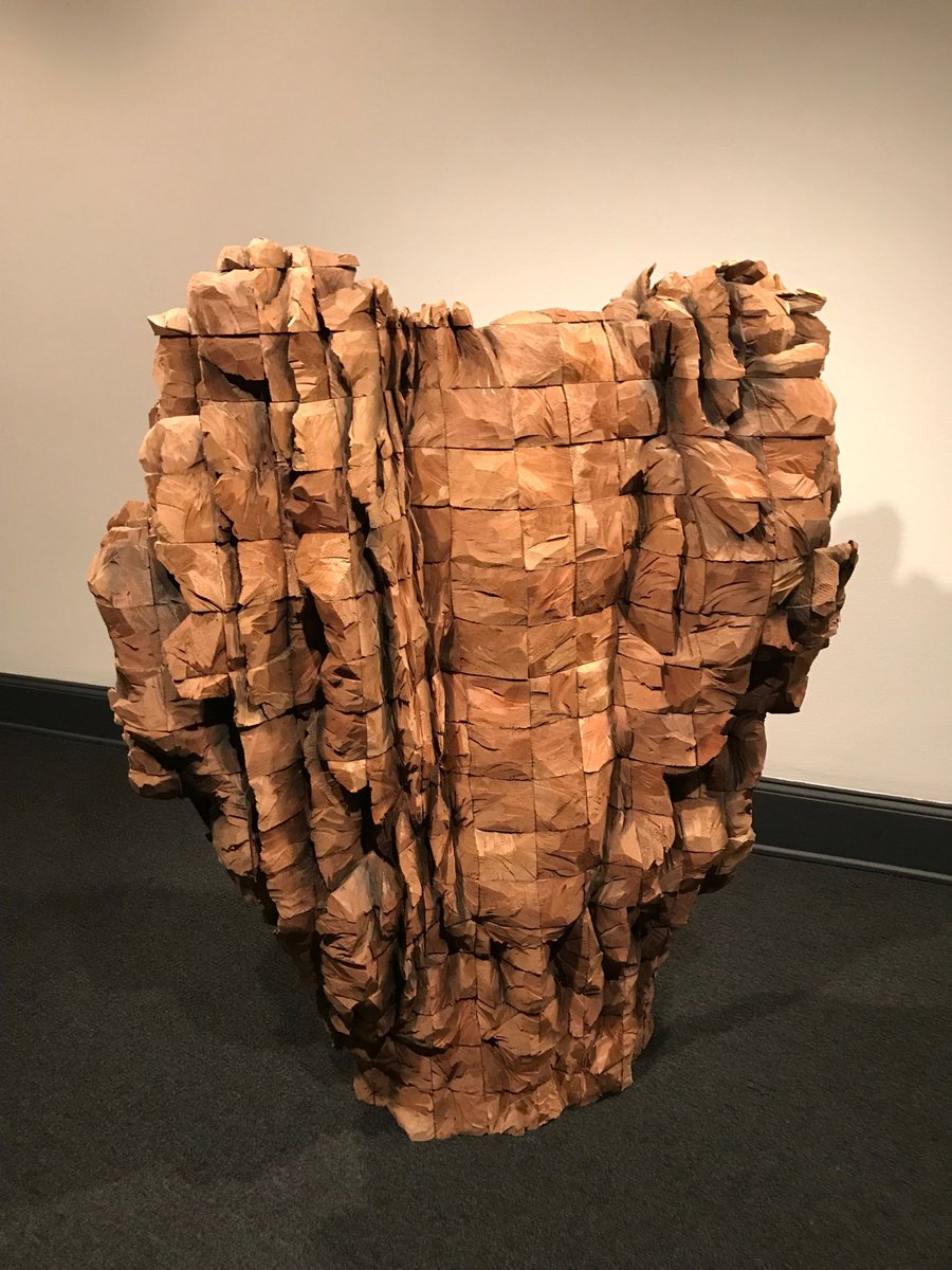 Ursula Von Rydingsvard, sculptor. A visit to the National Museum of Women in the Arts <a target='_blank' href='https://t.co/LoMfHc9fX9'>https://t.co/LoMfHc9fX9</a>