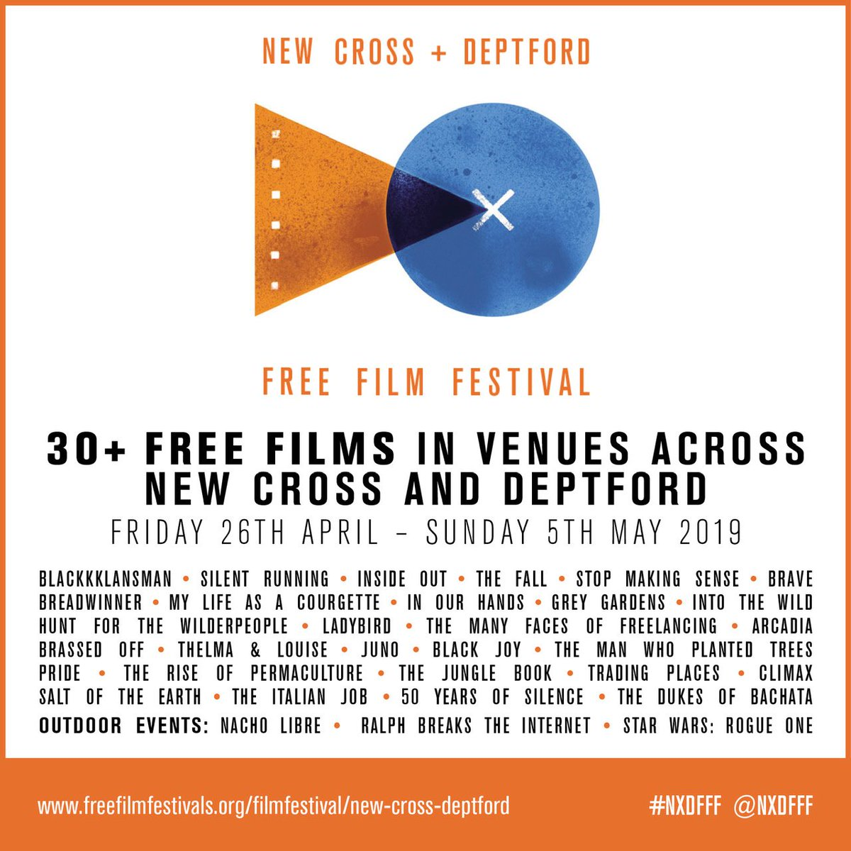 Here's a little taster for anyone who's excited for the 8th annual @nxdfff. Free films and events over 10 days starting at the end of April. We'll be announcing the full programme this week!  #freefilm #nxdfff