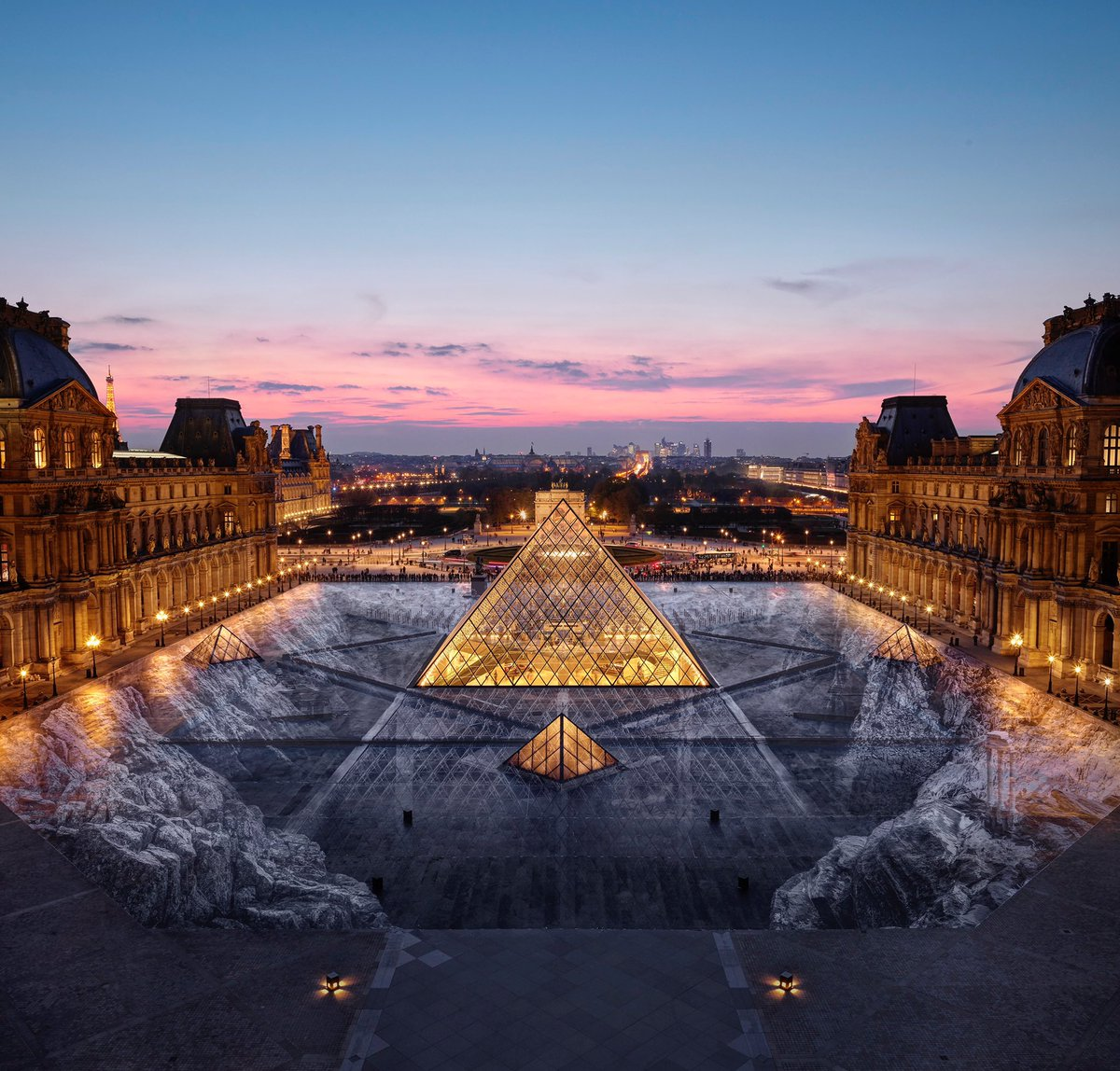 Well, that incredible optical illusion at the Louvre has been destroyed by the public - Culture