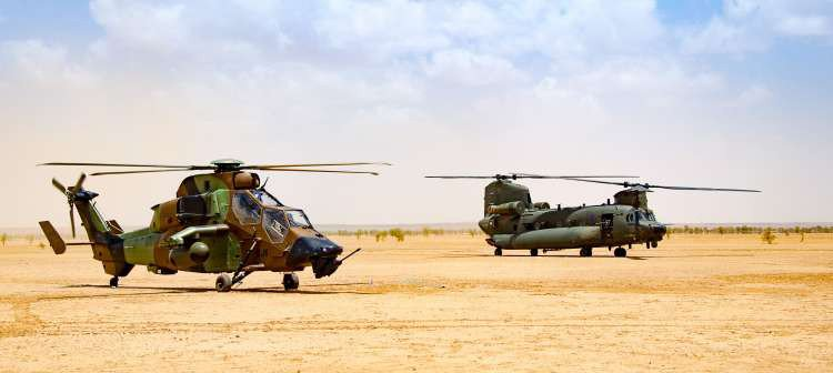 Tonight sees the first deployment of 27 Sqn aircrew to Op NEWCOMBE in Mali, as we prepare to take over the @RoyalAirForce Chinook commitment from 18(B) Sqn in the coming days. Our engineers are already in theatre and ready to get cracking. Have a safe and successful deployment!