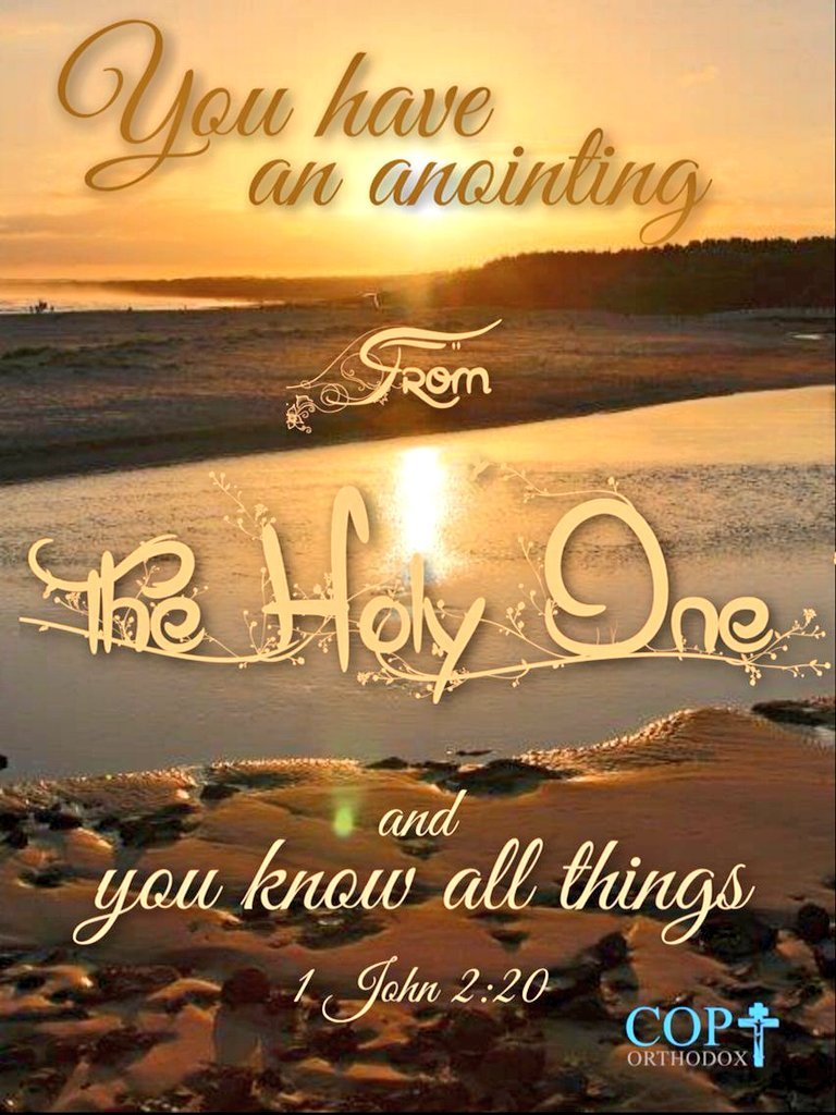 "RichNChrist on Twitter: ""1 John 2: 20. But ye have an unction from the Holy One, and ye know all things. -Holy Bible KJV #HolySpirit #Outpouring #Come… https://t.co/pDs714Rqqi"""