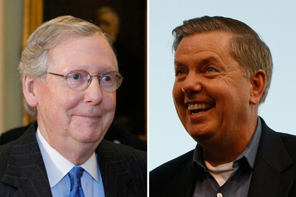 Interestingly the two @GOP Senators NOBODY ever thought would become #Trumps puppets--#MitchMcConnell & @LindseyGrahamSC have become just that. Folks, what kind of JUICY stuff does Trump have on McConnell and Graham? #TheResistance #CNN #MSNBC #Yahoo #SundayThoughts #FBRParty