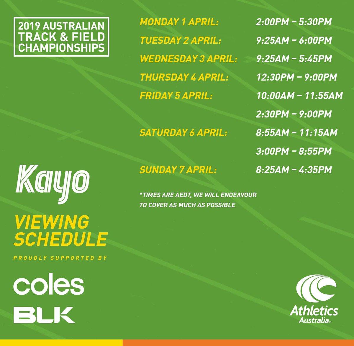 Athletics Australia on Twitter: