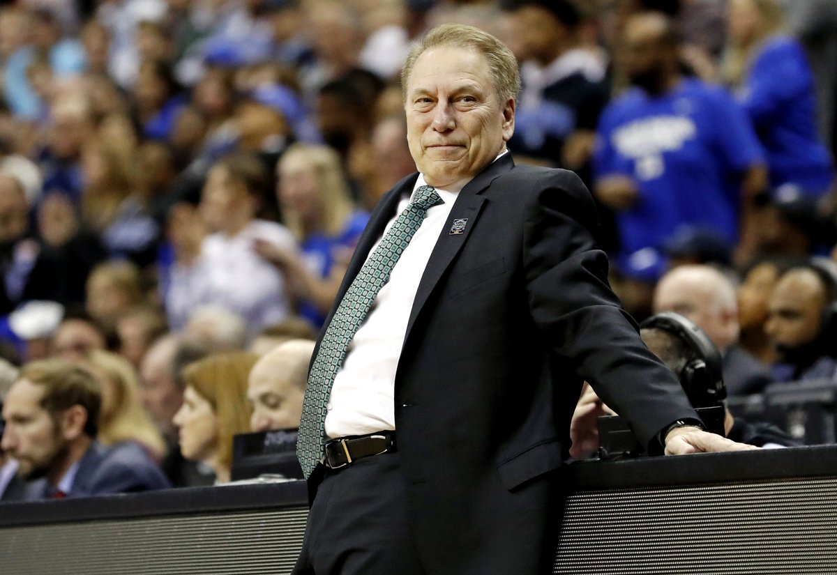 He just wins, and wins, and wins, that's Tom Izzo.  #MarchMadness x #MarchOnBTN https://t.co/68oRE456j3